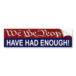 We the People bumper sticker