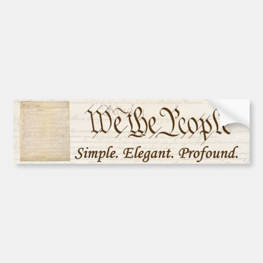 We the People - Bumper Sticker #1