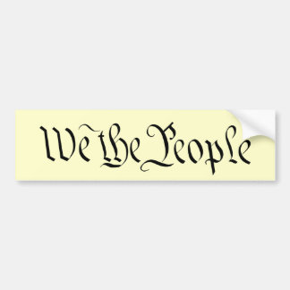 We the People Bumper Sticker 2
