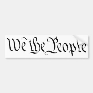 We the People Bumper Sticker 3