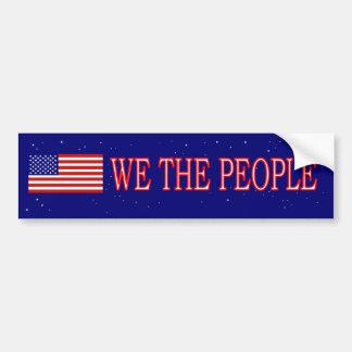 We The People Bumper Sticker Us Flag Car Bumper Sticker