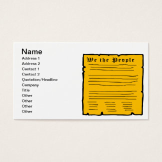 We The People Business Card