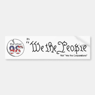 """We the People"" Car Bumper Sticker"