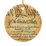 We The People Ceramic Ornament