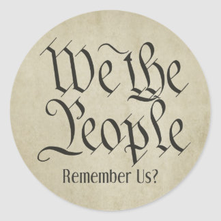 We the People! Classic Round Sticker