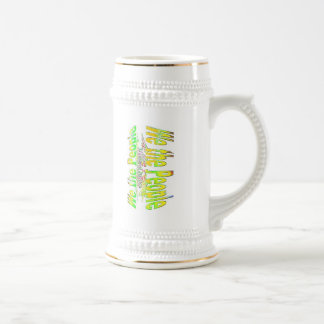 ~ We The People,,* Colorful Series: Demand #Justic Beer Stein