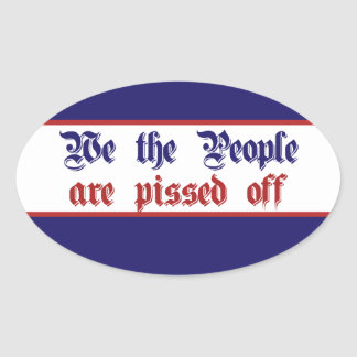 We the People Conservative Tea Party Oval Sticker