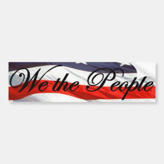 We The People Constitution Bumper Sticker