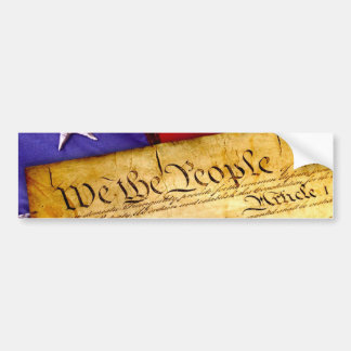 We the People Constitution of the United States Bumper Sticker