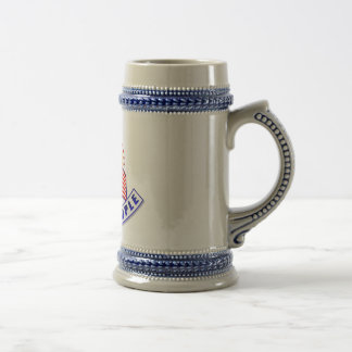 We The People Eagle Blue Banner Beer Stein