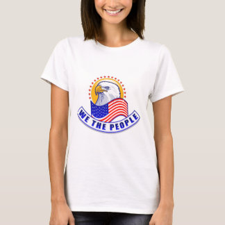 We The People Eagle Blue Banner T-Shirt