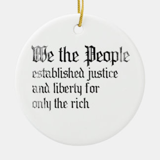 We the people establish justice and liberty for th ornament