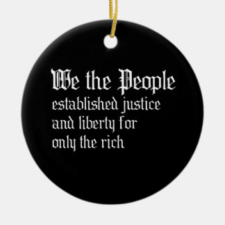 We the people establish justice and liberty for th christmas tree ornament