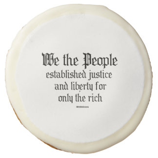 We the people establish justice and liberty sugar cookie