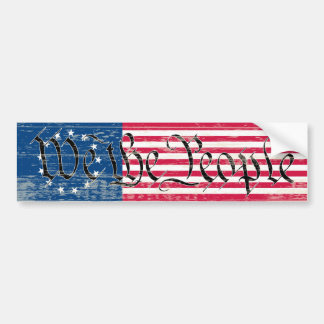 We The People Flag Car Bumper Sticker