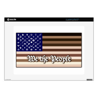 """We the People Flag Skin For 15"""" Laptop"""