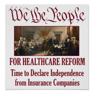 We the People For Healthcare Reform Poster
