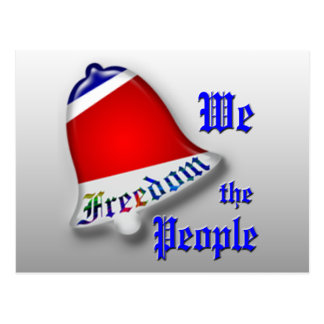 We The People Freedom Postcard