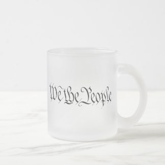 We The People Frosted Glass Coffee Mug