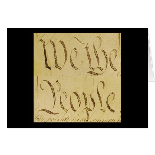 We The People Greeting Cards
