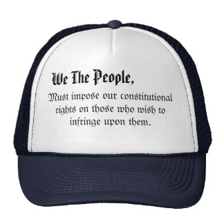 We the people hatfrom my constitution collection trucker hat