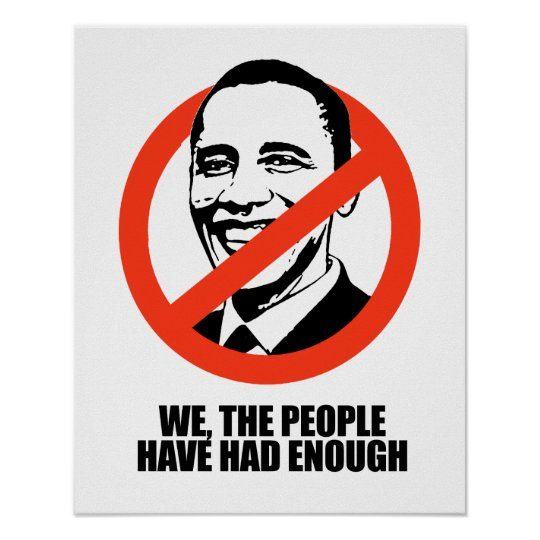 We the people have had enough poster