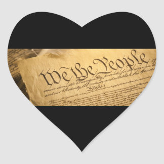 We The People Heart Stickers Envelope Seals