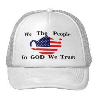 We The People In GOD We Trust Patroitic  Hat