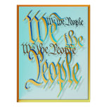 We The People-in gold Poster