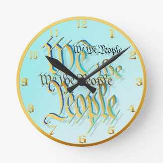 We The People-in gold Wallclock