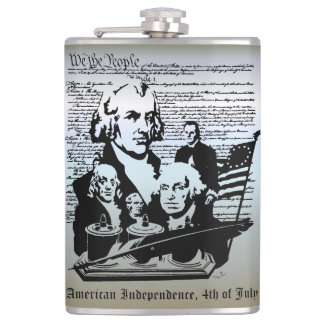We The People, Independence 4th of July Hip Flasks