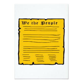 We The People 5x7 Paper Invitation Card