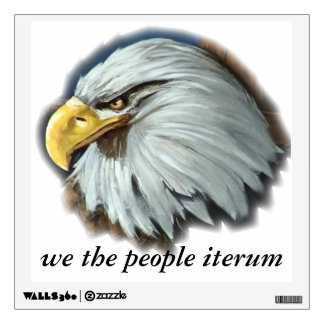 we the people iterum eagle wall decal