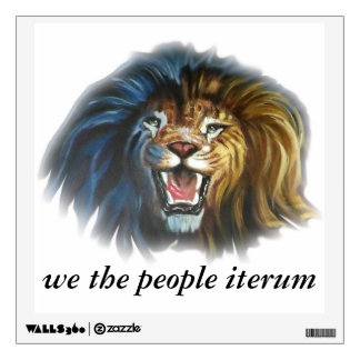 we the people iterum lions head wall sticker