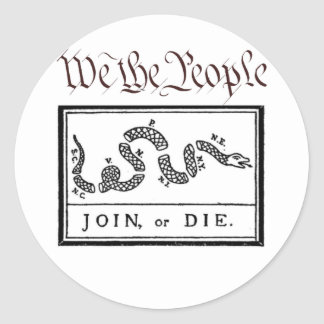 We the People... Join or Die Classic Round Sticker