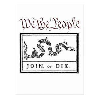 We the People... Join or Die Postcard