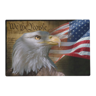 We The People Laminated Placemat