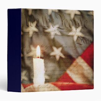 "We the People Memorial Candle 1.5"" Photo Album Binder"