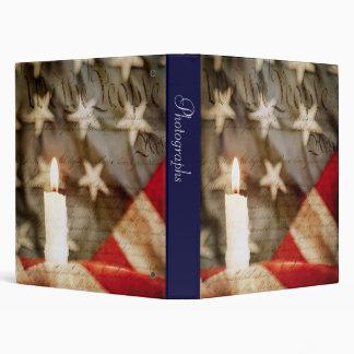 "We the People Memorial Candle 1"" Photo Album Vinyl Binder"