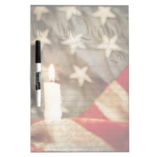 We the People Memorial Candle Dry Erase Board