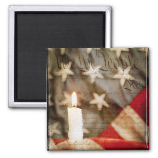 We the People Memorial Candle Magnet