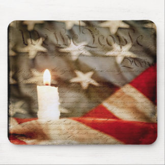 We the People Memorial Candle Mousepad