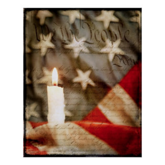 We the People Memorial Candle Poster