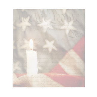 We the People Memorial Candle Scratch Pads