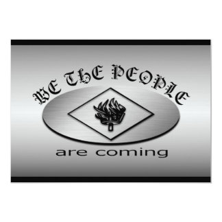 We the People Metallic Shield Logo with Torch Card