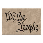 We The People / Parchment Print