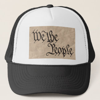 We The People / Parchment Trucker Hat