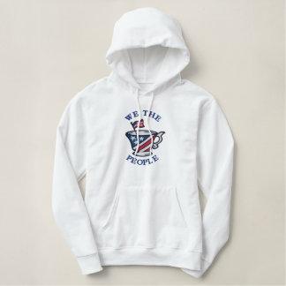 We The People Patriotic American Embroidered Hoodie