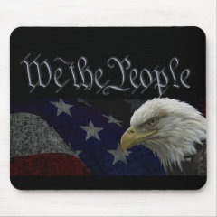 We The People Patriotic Mouse Pad