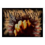 We The People Pray Blank Greeting Card